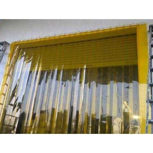Tirai PVC Curtain Plastik Orange Medan