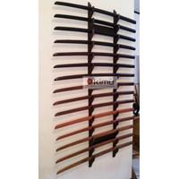 KIMU Collections: Dragon Claw Wall Katanakake (Rak Pedang) 15 Tingkat - Dinding