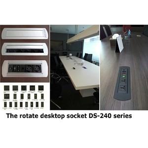 Desktop Socket - Table Top - Power Outlet Socket - Furniture Socket - Stop Kontak Meja Type Rotary