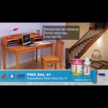 Jasa/Distributor/Supplier Cat Polyurethane pelindung permukaan kayu   PWG EAL 41 - Polyurethane White Gloss EAL 41   Katalog 51