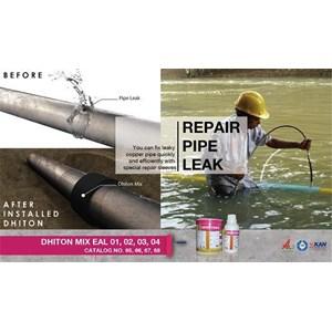 Dari Jasa/Distributor/Supplier Penambal pipa besi,pvc dan pipa lainnya   DHITON MIX EAL (01) - Repair Pipe Leak   Katalog 65 0