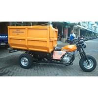 Motor Roda Tiga Bak Sampah Fiber