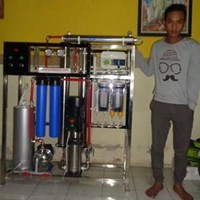 Filter RO air payau menjadi air tawar kapasitas 4000 Gpd dilengkapi alkaline 1