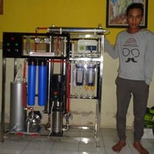 Filter RO air payau menjadi air tawar kapasitas 4000 Gpd dilengkapi alkaline