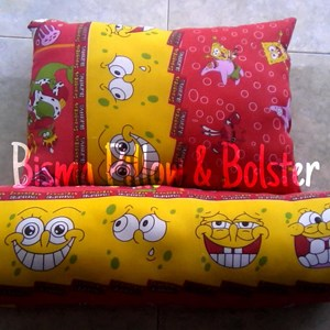 Bantal Guling Silikon Spongebob Red