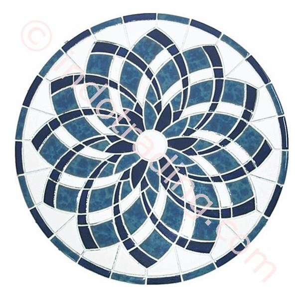 Decor Mosaic Type Blue Lotus