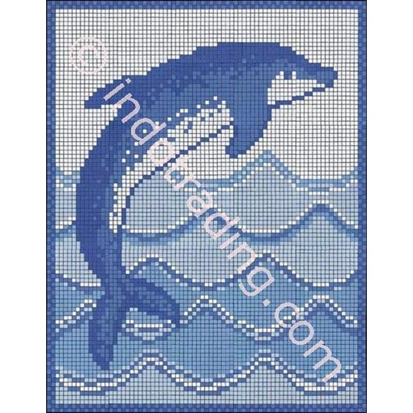 Mosaic Dekoratif Tipe Dolpin L/R