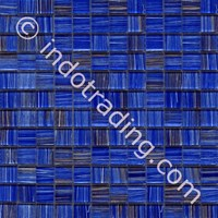 Mosaic Venus Tipe Retro Blue Gold