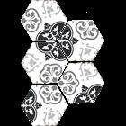 VENUS TIPE BATIK HEXSAGON Keramik Dinding  1