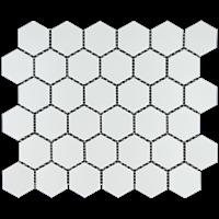 Keramik Dapur  hexagonal Pottery maxi white