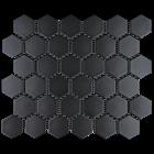 Keramik Mozaik  Hexsagonal Hitam Dof 1