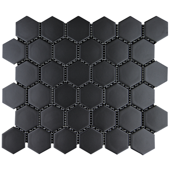 Keramik Mozaik  Hexsagonal Hitam Dof