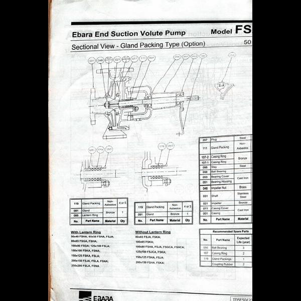 Ebara Transfer Pump
