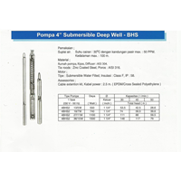 "Pompa 4"" Submersible Deep Well"