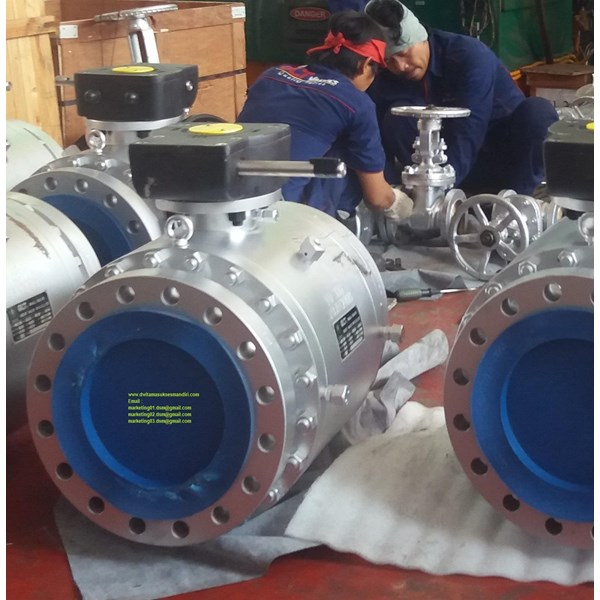 Ball Valve Carbon Steel A216 WCB Type Trunion