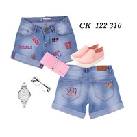 Jual Hotpants Long Bordir Jeans CK 122 310 (size 31-34)