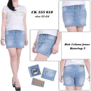 Jual Rok Celana Jeans Kancing 5 Ck 555 618 Size 31 34 Harga Murah