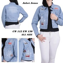 Jaket jeans CW 112 EW 130 (All size)