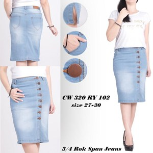 Sell Skirt Jeans Cw Span 320 Ry 102 Size S M L Xl From Indonesia By Young Trend Cheap Price
