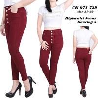 Celana Highwaist Jeans Kancing 5 CK 971 729 ( size 27-30)