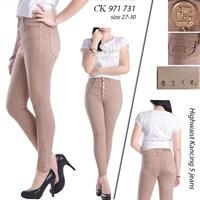 Highwaist Jeans Kancing 5 CK 971 731 ( size 27-30)