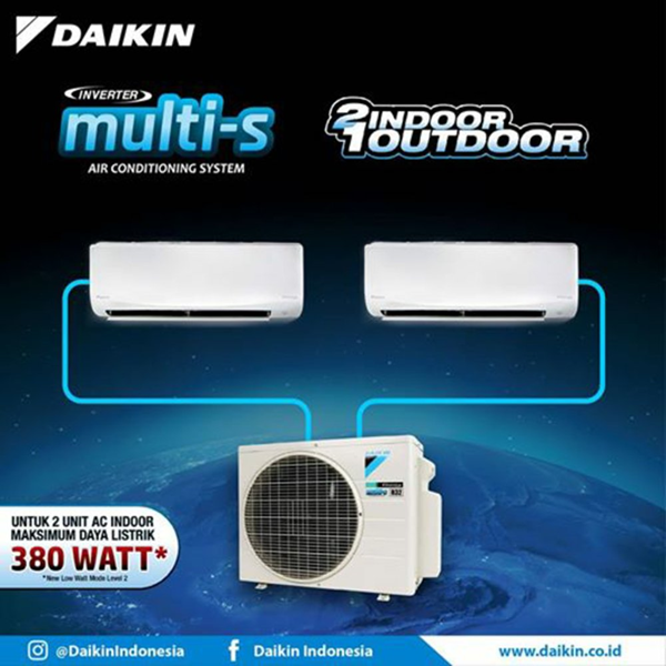 DAIKIN MULTI S 0.5 dan 0.75 PK2MKC30QVM INVERTER R32