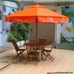 Tenda Payung Kayu Jati