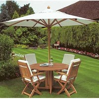 Jual Tenda Payung Jati warna Putih