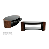 Sell SPICE OVAL COFFEE TABLE CINNAMON And ESPRESSO