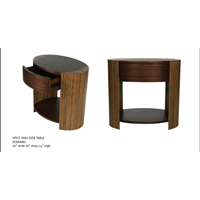Sell SPICE OVAL SIDE TABLE ZEBRANO