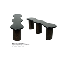 Sell WAVE COFFEE TABLE Or BENCH SLICED COCONUT SHELL And ESPRESSO