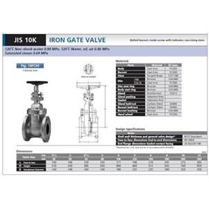 Gate valve kitz jis 10 k