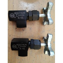 Needle valve angle type