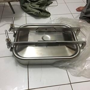 Dari Manhole sanitary stainless persegi kotak square valve 0