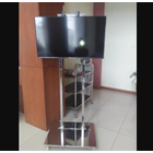 Bracket TV Standing Stainless Steel 2 Tiang 1