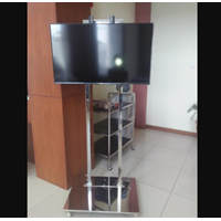 Bracket TV Standing Stainless Steel 2 Tiang
