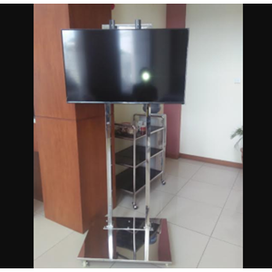 Braket TV Standing Stainless Steel 2 Tiang