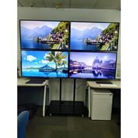 Jual standing bracket tv 2x2 4 monitor