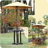 Sell Hut Table With Vinyl Rattan Roof