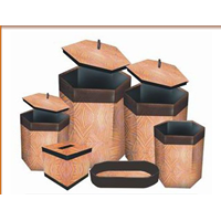 Wash Bamboo Hexagon Set Of 6