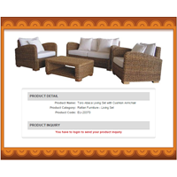 Sell Toro Abaca Living Set With Cushion Armchair