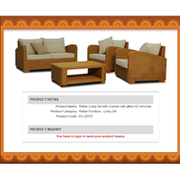 Sell Rattan Living Set With Cushion With Pillow KD Armchair
