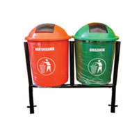 Jual 2 In 1 Outdoor Dustbin With Pole