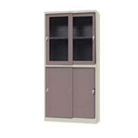 Glass Sliding Door File Cabinet