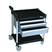 2 Shelves Utility Tool Trolley With Triple Drawer