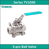TOMOE - Series TV1030 - 3-Pcs Ball Valve 1