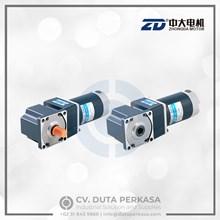 Zhongda DC Gear Motor Spiral Bevel Right Angle Type Z5D120 Series Duta Perkasa