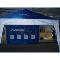 Tent the following promo back drop