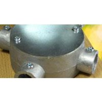 Jual Circular Surface Box 3 Way E-19 Steel 2