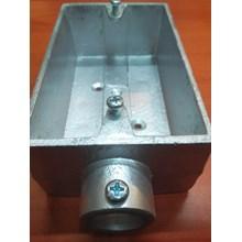 Surface Switch Box E-19 Alumunium 2 Way